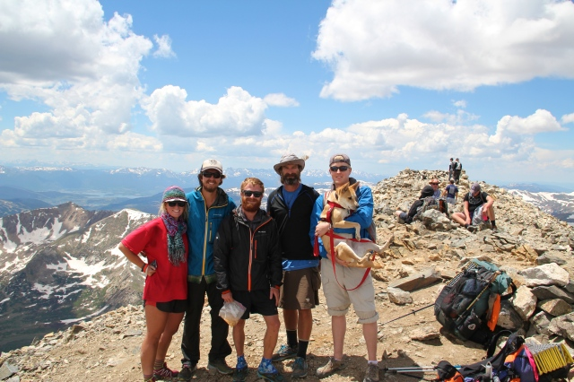 Friends atop Gray's Peak