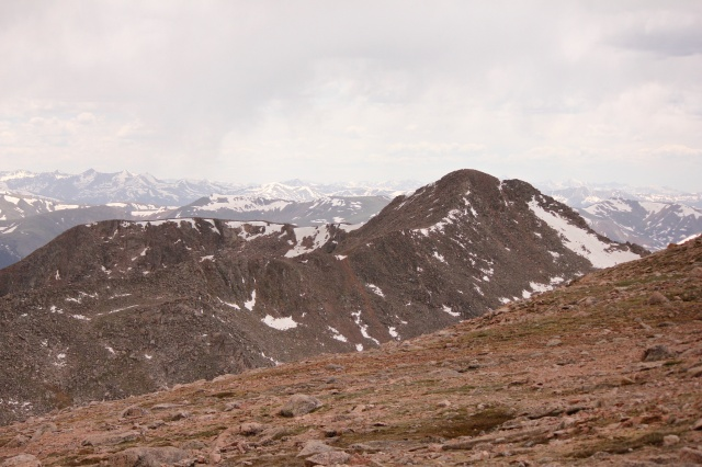 MT. Bierstadt view from Mt. Evans. Mt. B was the first 14er we accomplished summit