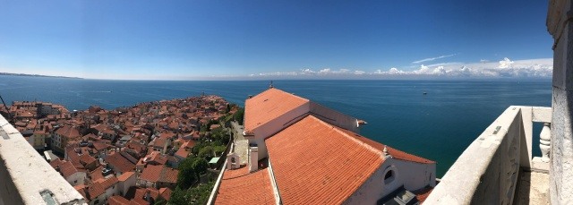 Piran - view of city pano from Tower